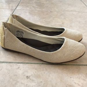 NEW! REEF Tropic ballet flat shoes in gold/burlap
